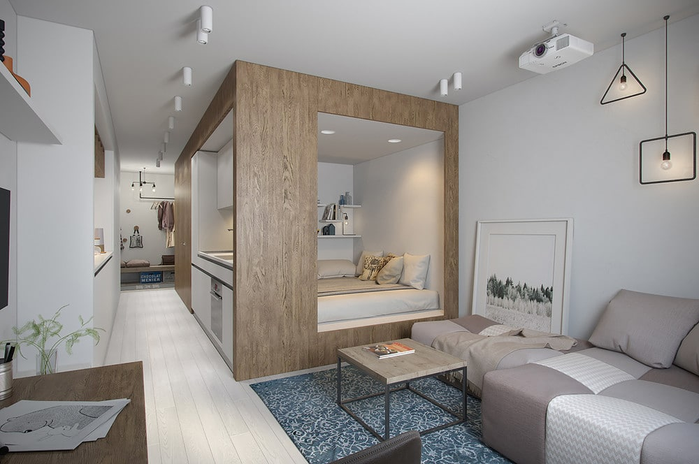 Aménager un appartement de 30 m² - Un clair et un sombre