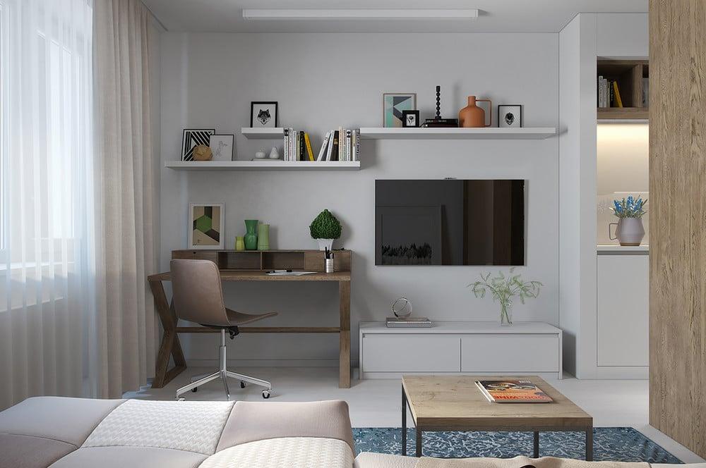 Passons Maintenant Au Second Appartement : Lu0027appartement Sombre. Avec Moins  De 24 Mètres Carrés De Surface Au Sol Mais Une Belle Hauteur Sous Plafond,  ...