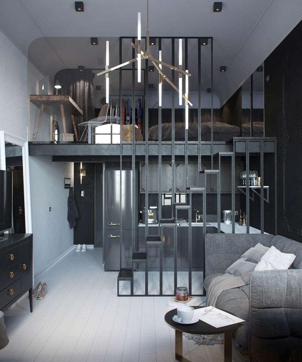 am nager un appartement de 30 m un clair et un sombre. Black Bedroom Furniture Sets. Home Design Ideas