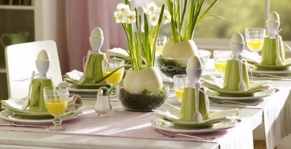 décoration de table pour Pâques