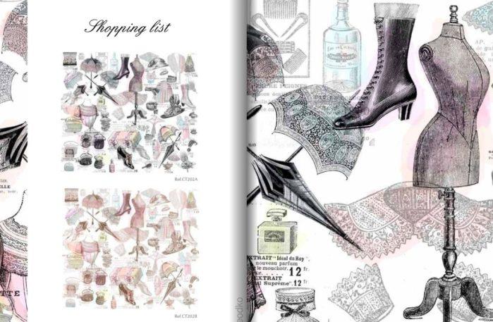 papier peint Chantal Thomass Shopping list
