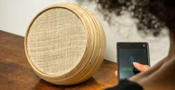 Hazang enceinte connectée design bambou