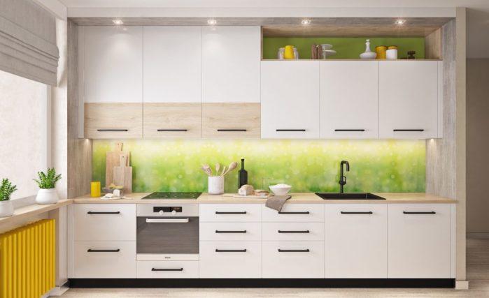 Une décoration lumineuse dans la cuisine
