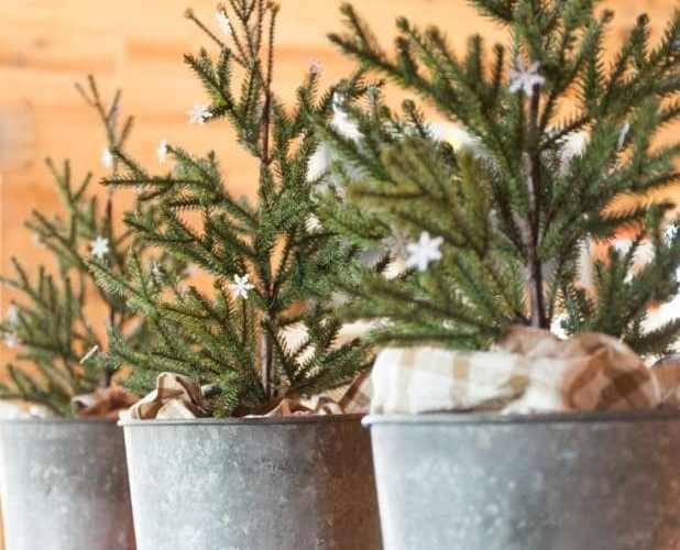 Tendance déco pour Noël zinc acier galvanisé