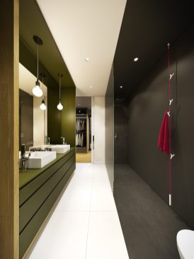 maison contemporaine aux couleurs automnales