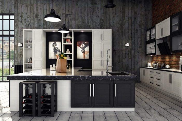 Des cuisines industrielles avec une touche de métal