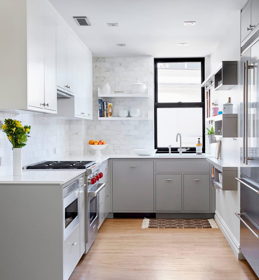 30 cuisines grises et blanches déco et design   Deco Tendency