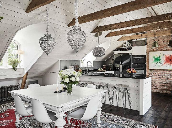 Décoration scandinave classique la salle à manger