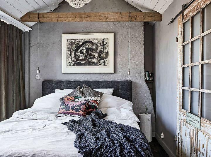 Décoration scandinave classique la chambre