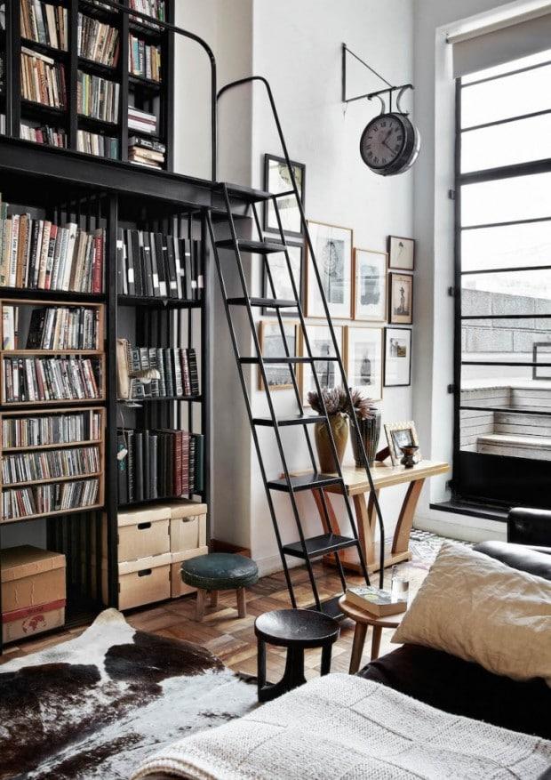 bibliothèque en acier incroyable