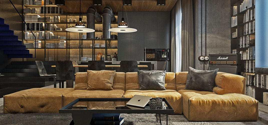salon la d coration industrielle mon guide ultime. Black Bedroom Furniture Sets. Home Design Ideas