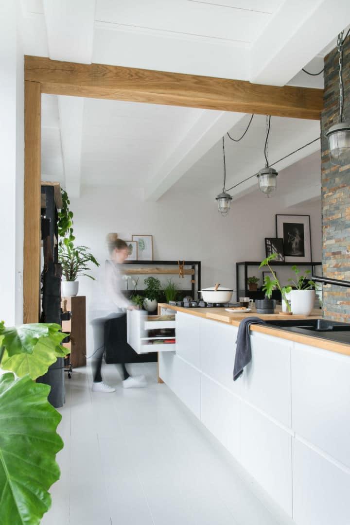 Une cuisine simple et magnifique