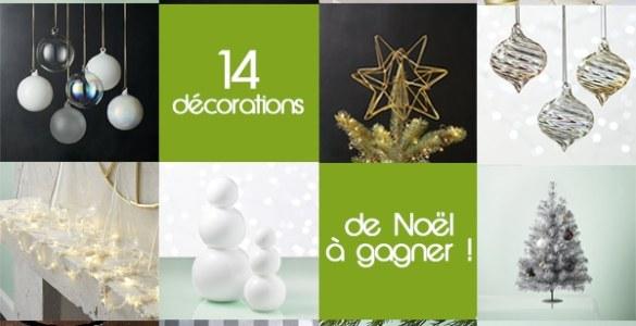 Gagnez vos décorations de Noël