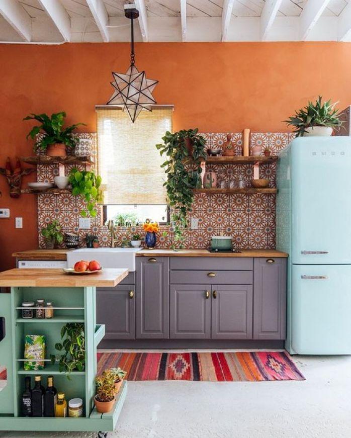 cuisines avec une décoration de style bohémien