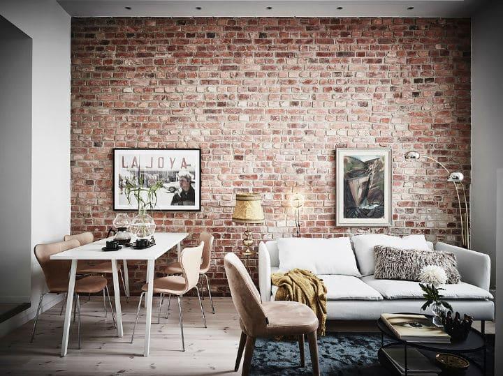 Murs de brique et de la peinture blanche : l'accord parfait de la déco !