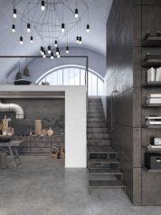 loft rustique moderne de Chicago