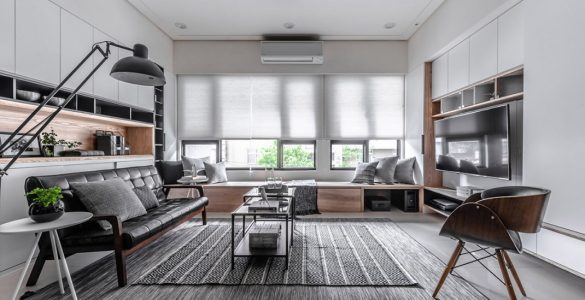 Utiliser des meubles encastrés pour décorer tout une maison
