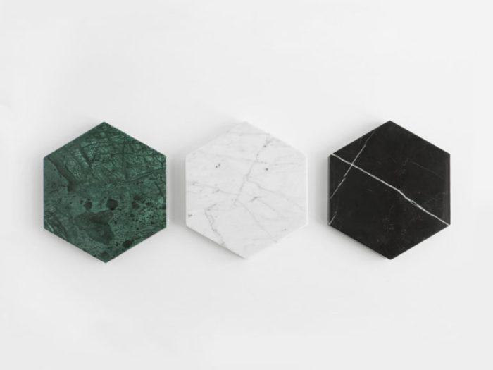 Objets déco tendances en marbre stone trivets