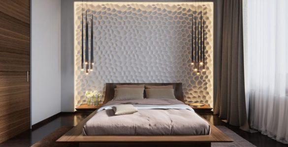 Têtes de lit créatives chics et surdimensionnées