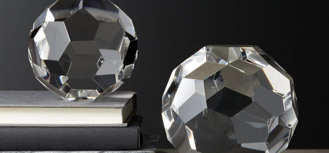 objets déco tendances sphères crystal