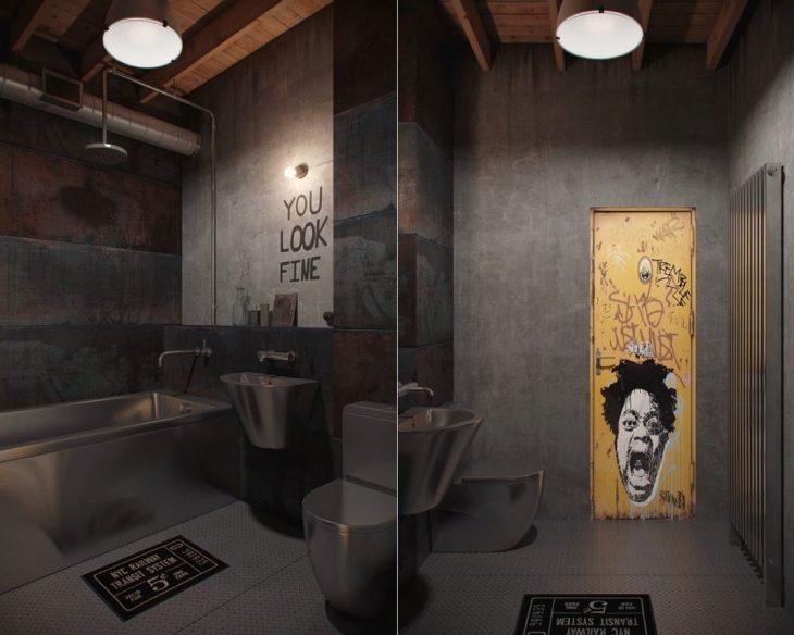 salles de bains de style industriel 42
