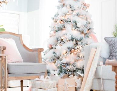 Idées de décoration de sapin de Noël 50 nuances de rose