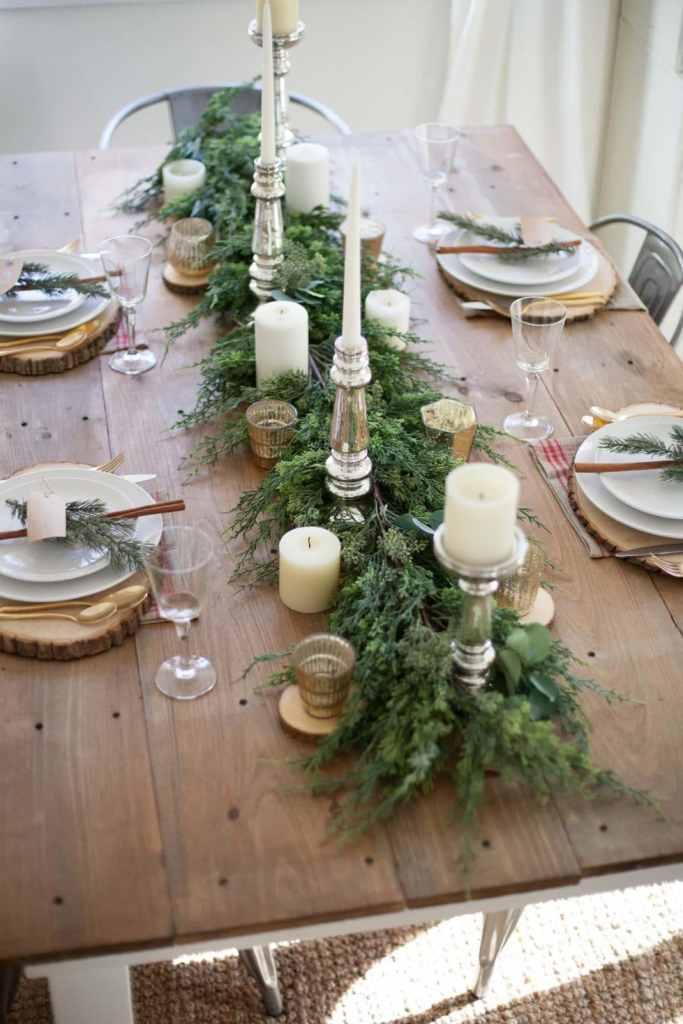 Centres de table de Noël: les bougies