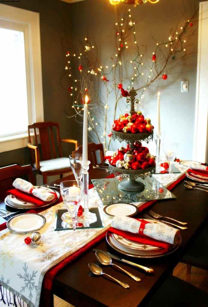 Centres de table de Noël: festif