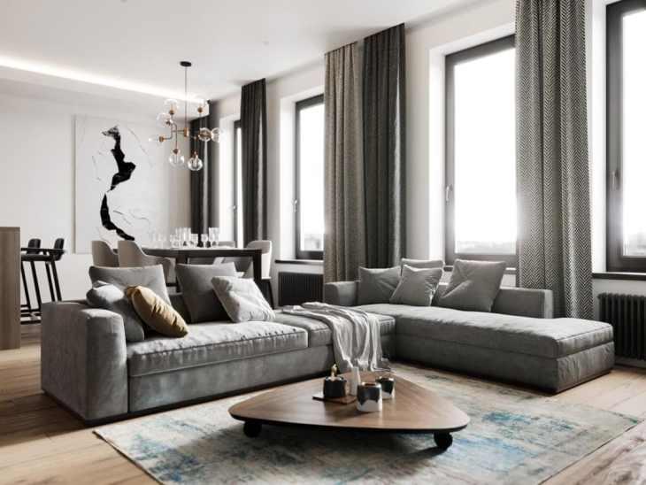 Visite d'un appartement au style glamour moderne sophistiqué 1