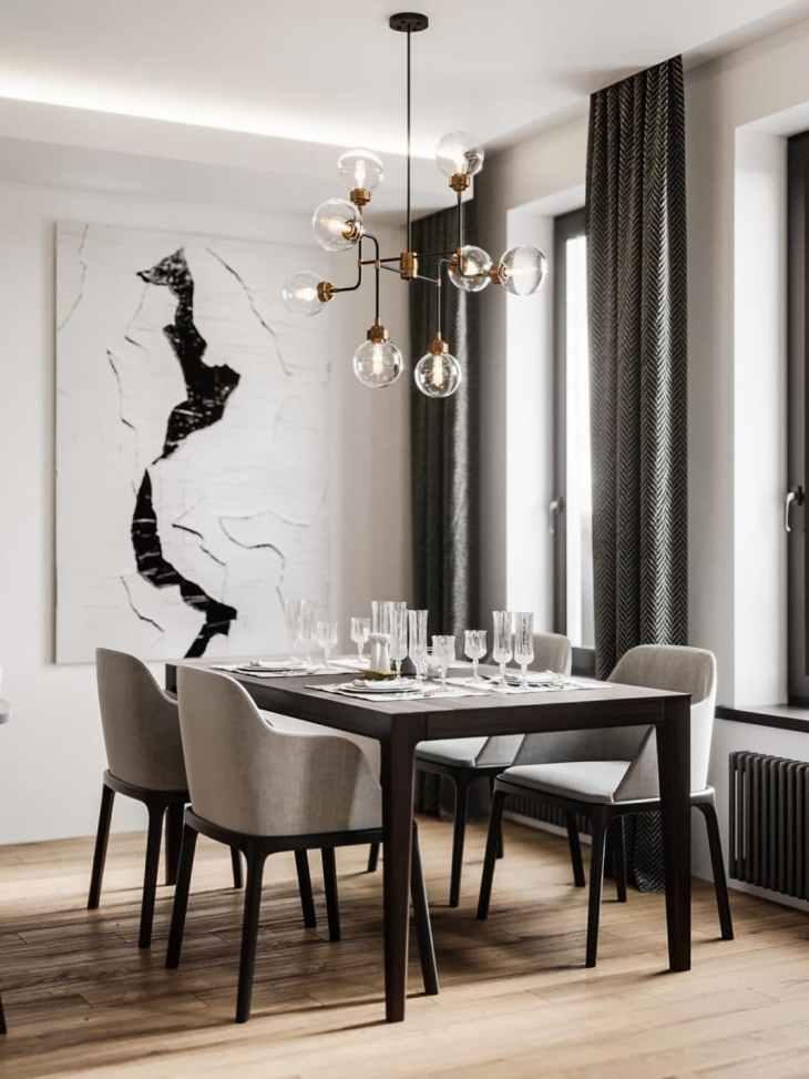 Visite d'un appartement au style glamour moderne sophistiqué 4