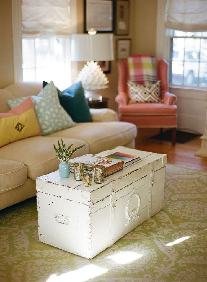 Tables basses valise et coffre25 idées déco qui associent le vintage à la vivacité 17