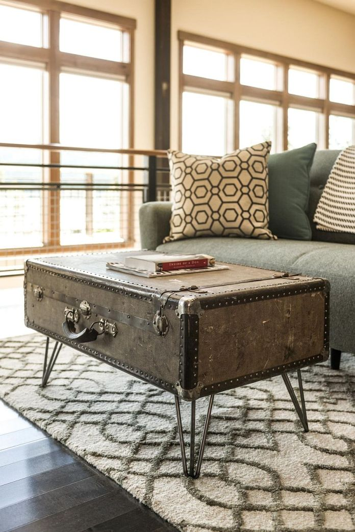 Tables basses valise et coffre25 idées déco qui associent le vintage à la vivacité 3