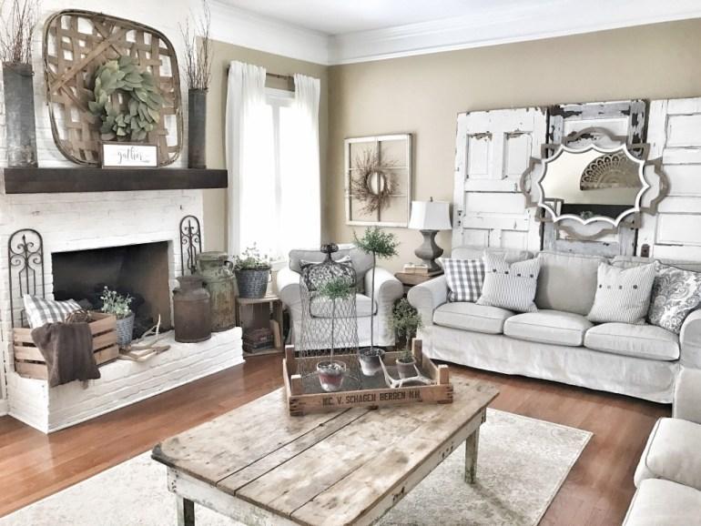 Décoration de salon cottagesimplicité et confort