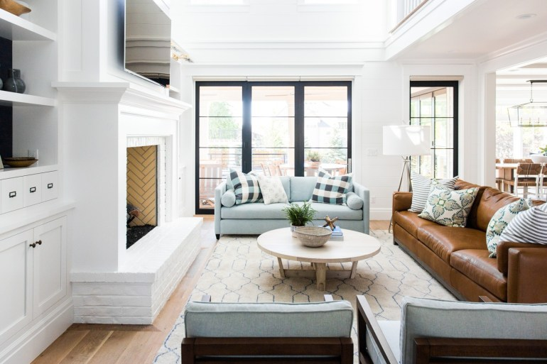 La palette de couleur pour une décoration de salon cottage