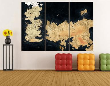 Les tableaux de la carte des royaumes – 129 dollars