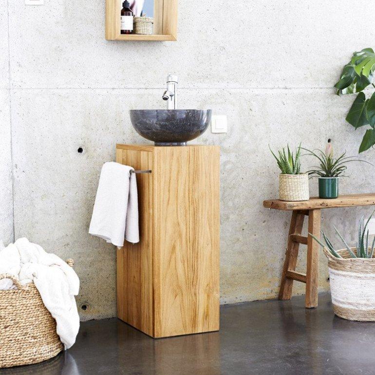 Tendance bois : 10 salles de bains utilisant du bois naturel