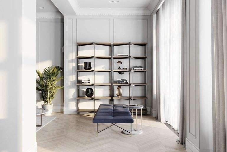 décoration d'intérieur néoclassique à base de gris 2