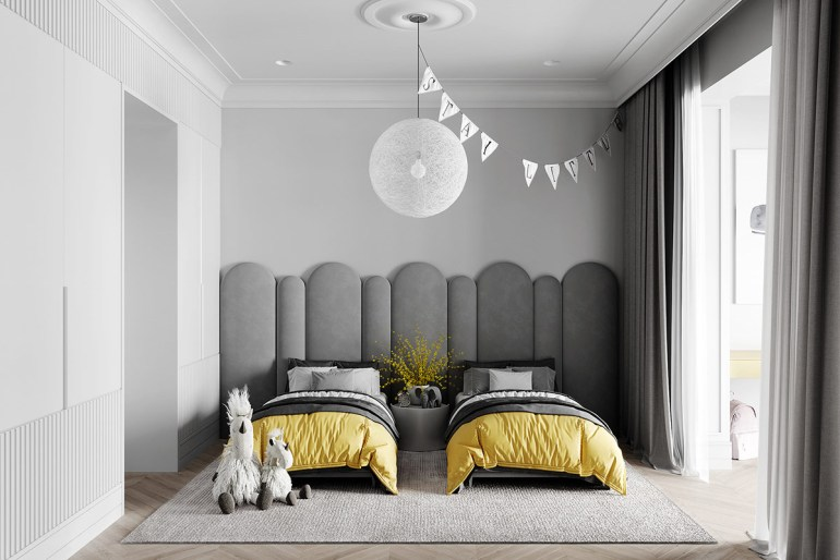 décoration d'intérieur néoclassique à base de gris 5