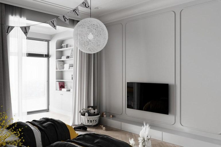 décoration d'intérieur néoclassique à base de gris 6