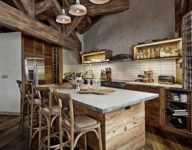 Dernières tendances de cuisinele bois de récupération