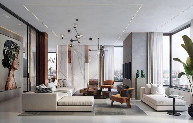 Spotless Agency dévoile un appartement espiègle aux accents de cuivre