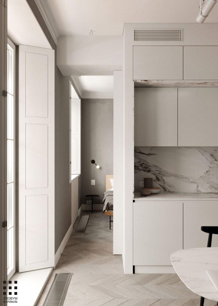 Une cuisine en marbre 1