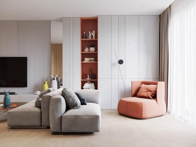 Un intérieur rétro moderne rempli d'idées de conception originales 3