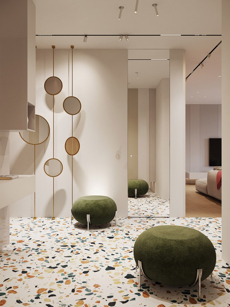 Un intérieur rétro moderne rempli d'idées de conception originales 8