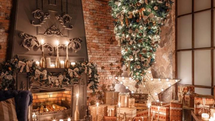 Les sapins de Noël à l'envers