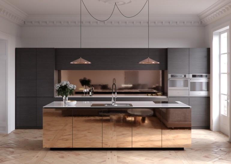 Des cuisines minimalistes sombres