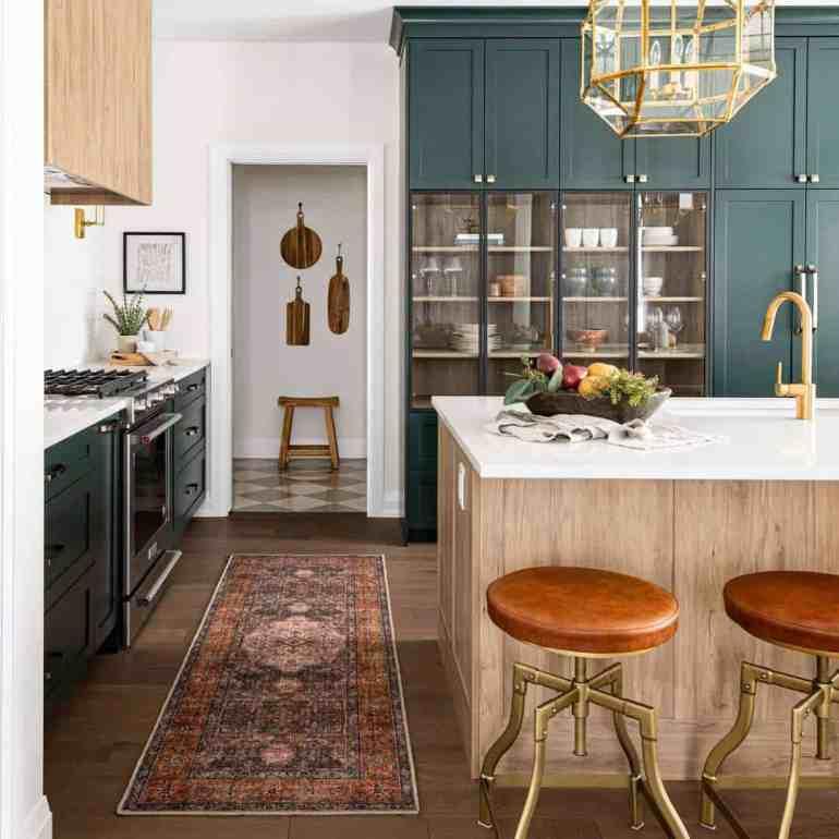 Tendances de la cuisine pour 2021 des armoires vertes