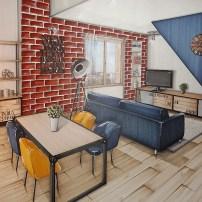 Appartement parisien - Pièce de vie