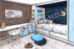 Chambre d'un petit garçon
