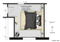 Plan de la Chambre d'hôtel